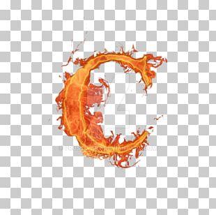 Letter Alphabet Fire Font PNG