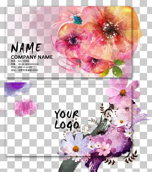 Business Card Visiting Card Flower PNG