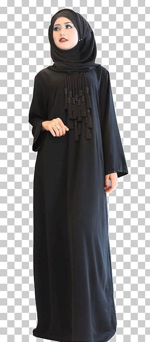 Maxi Dress Little Black Dress Sleeve Abaya PNG