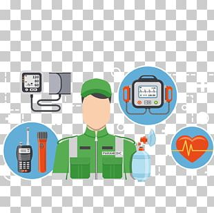 Hospital Ambulance Flat Design PNG