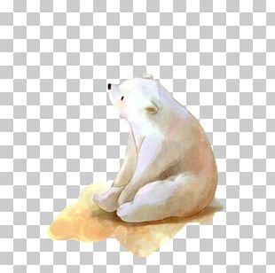 Baby Polar Bears Watercolor Painting Drawing PNG
