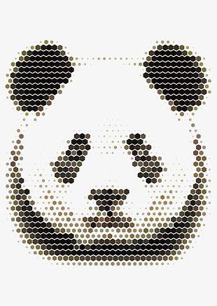 Mosaic Panda PNG