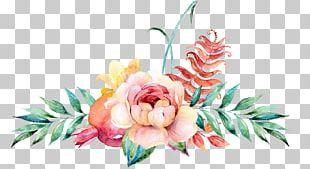 Flower Floral Design Watercolor Painting Illustration PNG