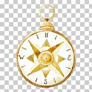Watercolor Painting Drawing Compass PNG