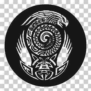 Spiral Pattern Font Black PNG