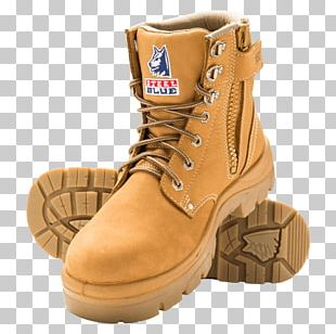 Steel-toe Boot Footwear Zipper Steel Blue PNG