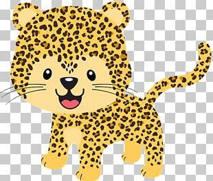 Cheetah Jaguar Leopard Baby Jungle Animals PNG