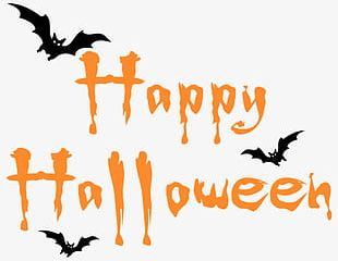 Happy Halloween Material English Font PNG