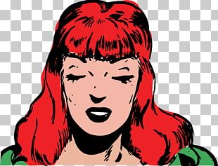 Red Hair Bangs PNG