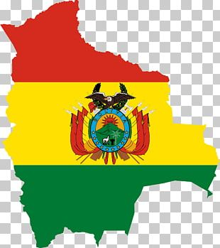 Flag Of Bolivia Map PNG