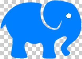 Elephant Baby Blue PNG