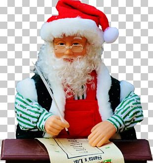 Santa Claus Christmas Ornament Wish List PNG