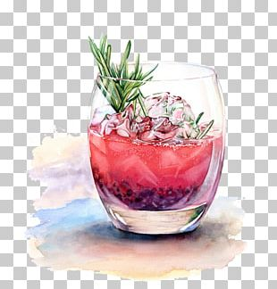 Cocktail Watercolor Painting Drink Drawing Illustration PNG