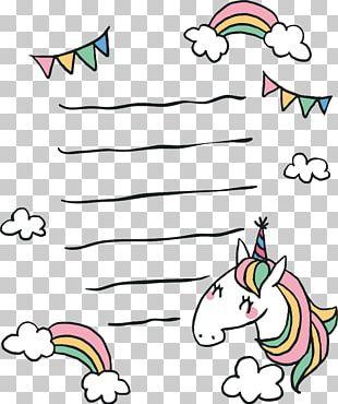 Paper Unicorn Papel De Carta PNG