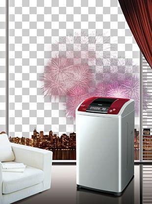 Washing Machine Haier Poster PNG