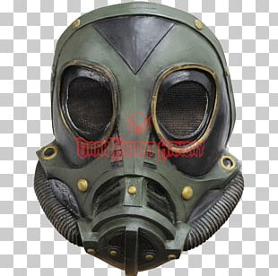 Gas Mask Halloween Costume Latex Mask Steampunk PNG