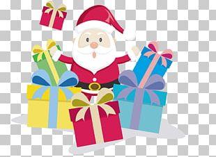 Santa Claus Christmas Village Gift Christmas Decoration PNG