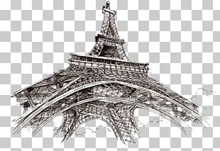 Eiffel Tower Champ De Mars Drawing Sketch PNG