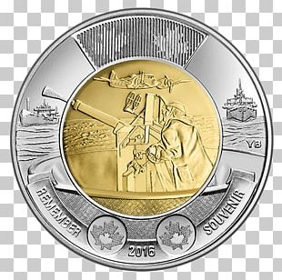 Canada In Flanders Fields Battle Of The Atlantic Toonie Australian Two-dollar Coin PNG