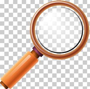 Orange Hardware Magnifying Glass PNG