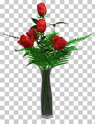 Garden Roses Vase Floral Design Flower Bouquet PNG