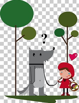 Little Red Riding Hood Big Bad Wolf Gray Wolf Short Story Fairy Tale PNG