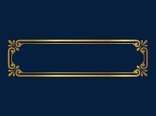 Gold Frame Material PNG