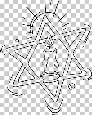 Coloring Book Star Of David Jewish People Menorah Hanukkah PNG
