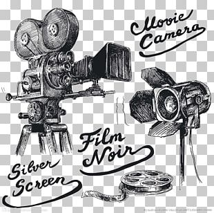 Photographic Film Movie Camera Drawing Cinema PNG