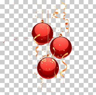 Red Christmas Ornament PNG