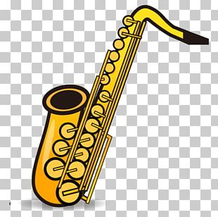 Saxophone Emoji Sticker Woodwind Instrument Text Messaging PNG