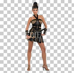 Costume Party Woman Gladiator Dress PNG