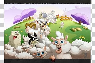 Illustration Vudulhu Sheep Cartoon Cattle PNG