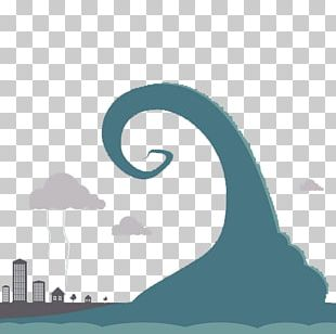 Tsunami Flat Design Illustration PNG