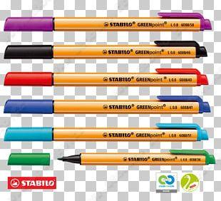 Marker Pen Stabilo GREENpoint PNG