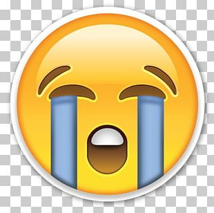 Face With Tears Of Joy Emoji Crying Sticker Emoticon PNG