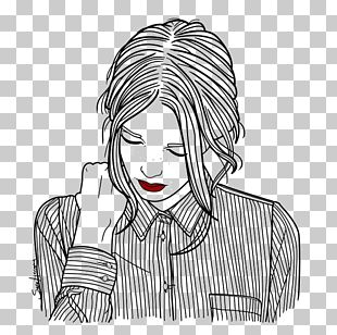 Drawing Art Hipster Female Illustration PNG