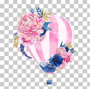 Hot Air Balloon Flower PNG