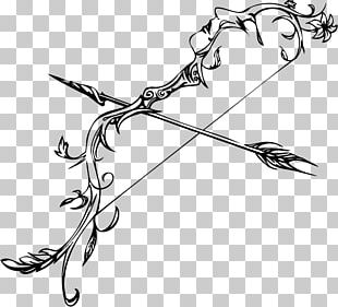 Bow And Arrow Drawing Line Art PNG