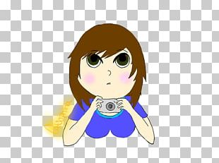 Brown Hair Desktop Character PNG