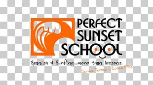 Perfect Sunset School Santa Teresa Surfing Lesson PNG