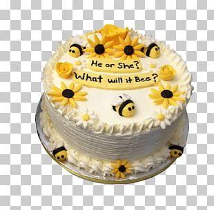 Cupcake Bee Baby Shower Gender Reveal PNG
