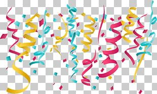 Paper Ribbon Party Birthday PNG