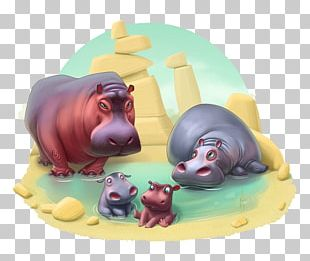 Township The Zoo Book Hippopotamus Baby Animals Playrix PNG