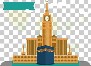 Kaaba Great Mosque Of Mecca Hajj Flat Design PNG