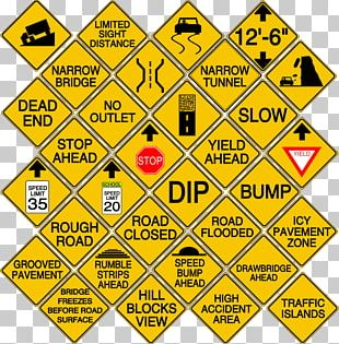 Road Surface Traffic Sign Information Sign PNG