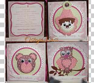 Paper Owl Pink M PNG