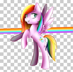 Horse Fairy Cartoon Pink M PNG