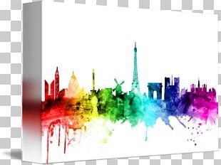 Skyline Canvas Print De Stijl Artist PNG