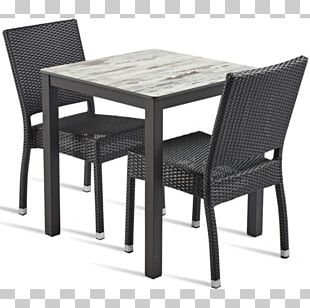 Table Chair Wicker Garden Furniture PNG